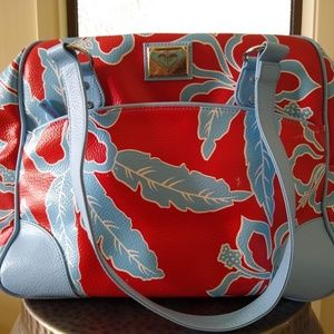 Roxy Medium Hibiscus Shoulder Bowling Bag